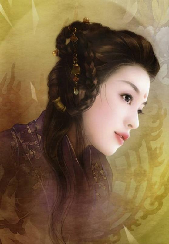 La très belle illustration qui m'a inspiré cette coiffure.