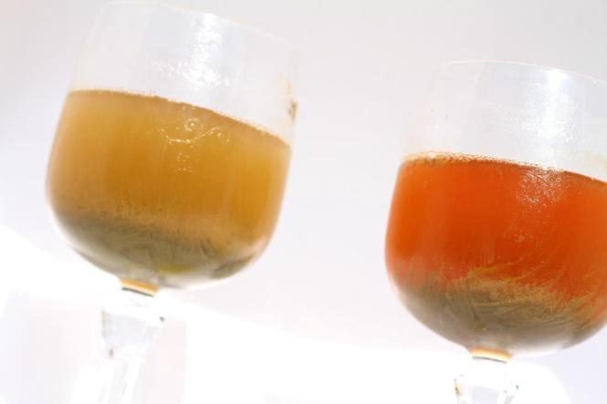 Faisons mumuse : la poudre de henné figée dans l'eau congelée.