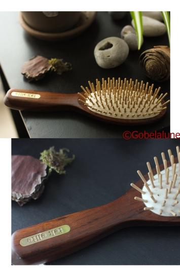 La brosse Tek en bois : ici le beau modèle Elite (j'ai pas fait attention en la prenant dans le magasin ^_^)