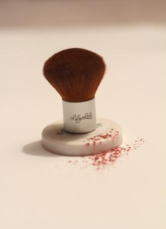 Et le mini kabuki, plus pratique pour manier la poudre de teint.
