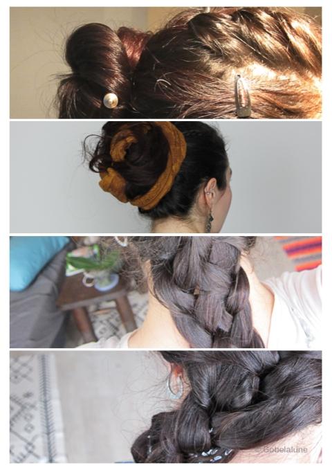 Un petit medley de coiffures possibles, et relativement simples à faire