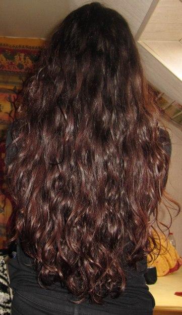 Mes cheveux, il y a deux ans :)